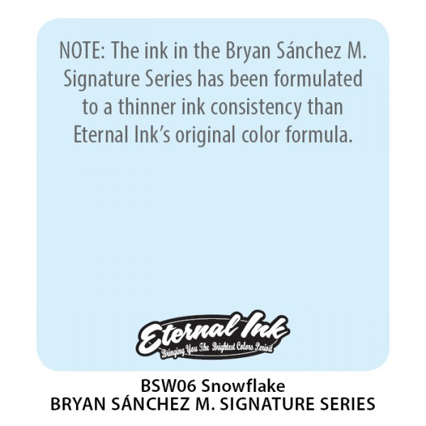 Bryan Sánchez M. Watercolor - Snowflake 1 oz