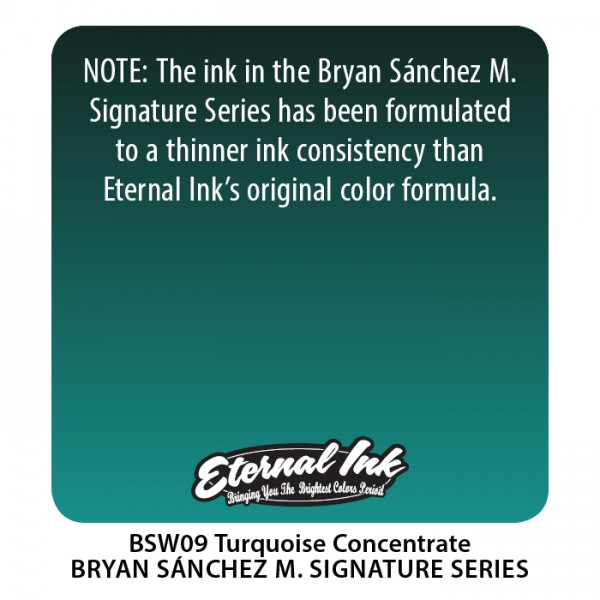 Bryan Sánchez M. Watercolor - Turquoise Concentra...