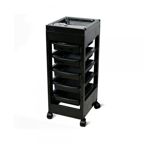 Mobile Worktable On Wheels with 5 drawers