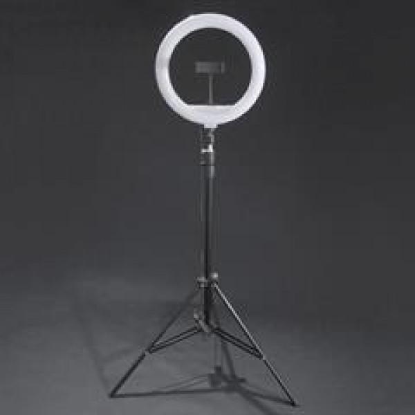 Ringlamp ⌀30cm LED, adjustable light intensity a...