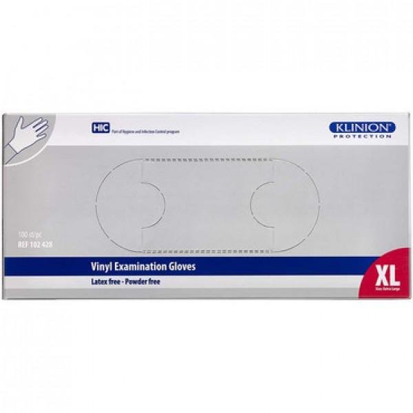 XL Vinyl Gloves Klinion 100PCS